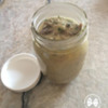 Homemade Cream of Mushroom Soup Stored in Jar