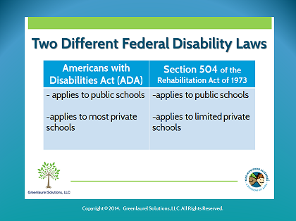 504 and ADA federal disability laws