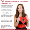 Valentine's Day Food Allergy Infographic for Teens and Kissing