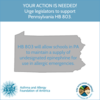 KFA Applauds PA State Sen. Folmer and the Education Committee for Moving Pennsylvania Epinephrine in Schools Bill, HB 803
