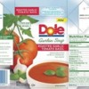 Milk Allergy Recall - Dole Roasted Garlic Tomato Basil Soup (Texas)