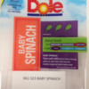 Tree Nut Allergy Alert (Walnut): DOLE Branded Spinach