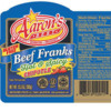 Peanut Allergy Alert - Agri Star Meats & Poultry Aaron's Best Beef Franks Hot & Spicy Chipotle