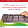 FDA Warns Dark Chocolate Contains Milk