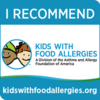 I Recommend Kids With Food Allergies Badge