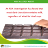 FDA Study Finds Milk in Most Dark Chocolate, No Matter What Label Says