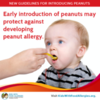 new guidelines on when to introduce peanuts to infants