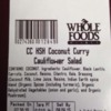 Tree Nut Allergy Alert (Almond) - Whole Foods Market Coconut Curry Cauliflower Salad