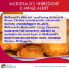 Milk Allergy Alert: McDonald's Fried Chicken Items
