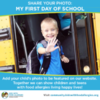 First Day of School Photos for Kids with Food Allergies