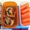 Allergy-friendly school lunch - milk-free cream cheese wrap: Allergy-friendly school lunch - milk-free cream cheese wrap
