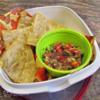 Wheat-free gluten-free tacodilla and salsa: Wheat-free gluten-free tacodilla and salsa