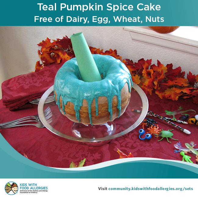 Teal Pumpkin Spice Cake Recipe | Kids With Food Allergies