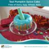 Teal Pumpkin Spice Cake Recipe