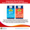 Important Recall Notice: All Auvi-Q Epinephrine Auto-Injectors