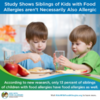 Study Shows Siblings of Kids with Food Allergies aren't Necessarily Also Allergic