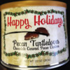 Peanut Allergy Alert - Virginia Diner Happy Holidays Pecan Turtledoves Chocolate Caramel Pecan Clusters