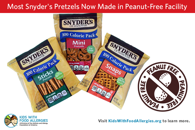 Most Snyder S Pretzels Now Made In Peanut Free Facility