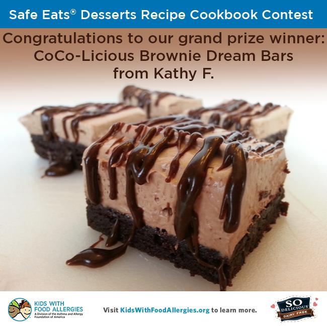 Safe eats desserts recipe cookbook contest kids with food allergies sodelicious safe eats tm deserts recipe cookbook contest forumfinder Images