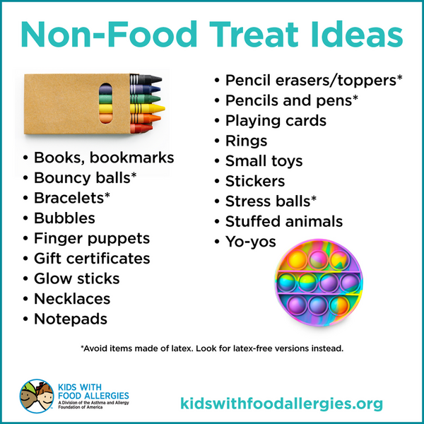 Non-food treat ideas for Halloween