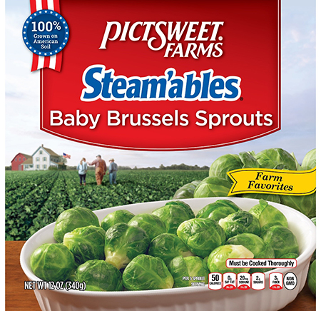 PictSweet Farms Steam'ables Baby Brussel Sprouts