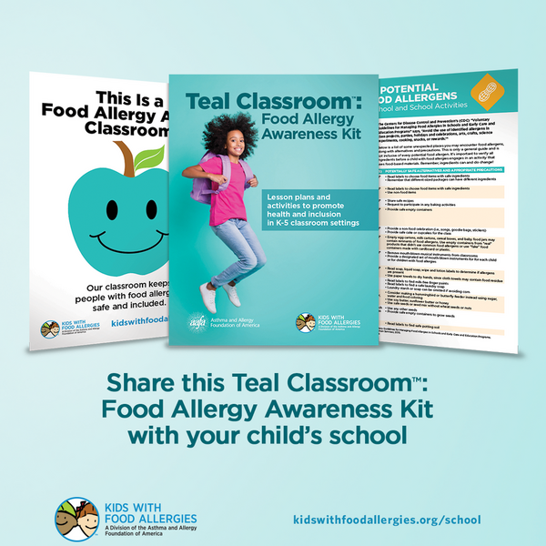 Teal classrooms raise food allergy awareness