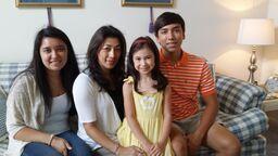 Karen with her three children, Lauryn, Mika and Layne
