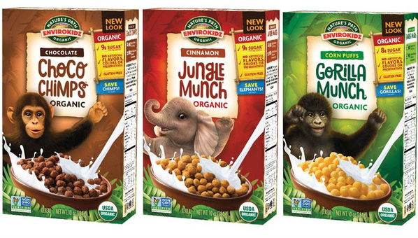 environkids cereals - choco chimp jungle munch gorilla munch