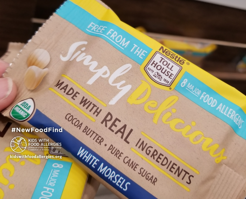 White Chocolate Chips Nestle Tollhouse Simply Delicious Free Of 8 Major Allergens Kids With Food Allergies