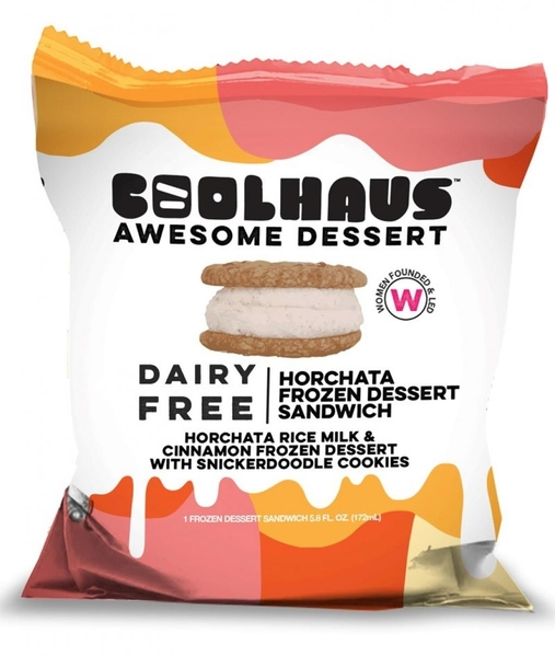 CoolHaus Dairy Free Horchata Frozen Dessert Sandwich, Pacakge Photo