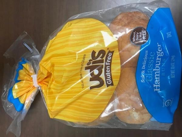 Package Front - Udi%u2019s Gluten Free, Classic Hamburger Buns