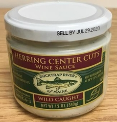 herring center cuts in wine sauce