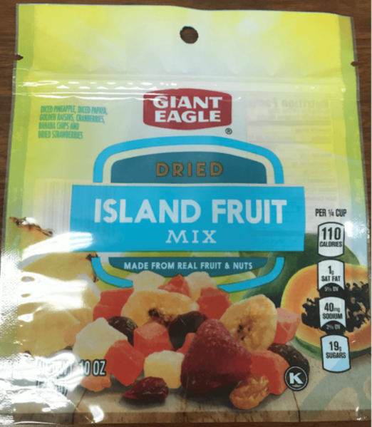 Giant Eagle Dried Island Fruit Mix, 10 oz