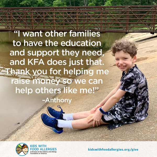 I want other families to have the education and support they need, and KFA does just that. Thank you for helping me raise money so we can help others like me!