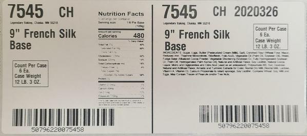Label-Case Ingredients French Silk