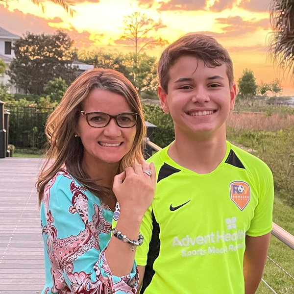 Claudia Martins and her son, Louis