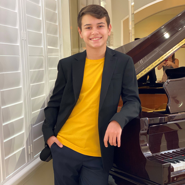 Louis Martins composed a piano piece to raise food allergy awareness