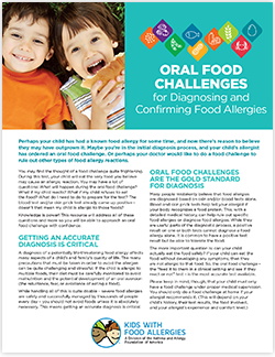 oral food challenges for food allergies handout
