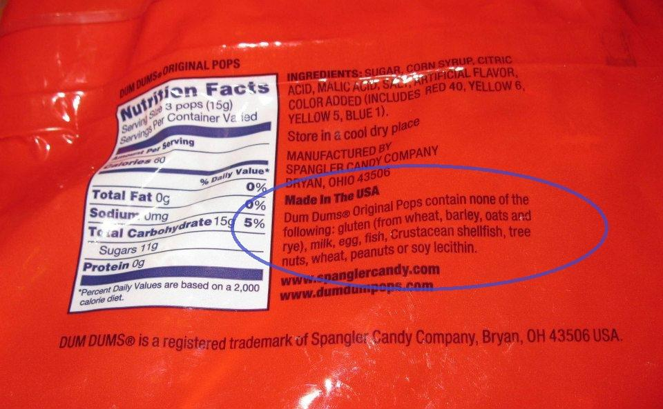 Check Ingredient Statements on Halloween Candy | Kids With ... Smarties Ingredients