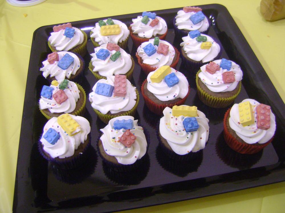 Egg Free Lego Cupcakes