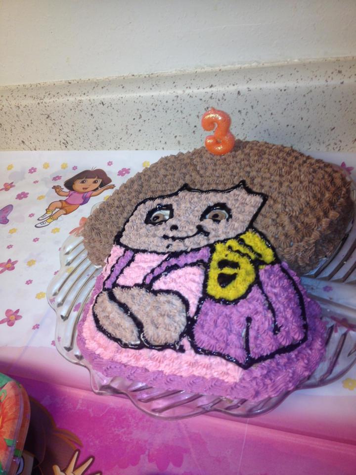 Dora cake 3rd birthday