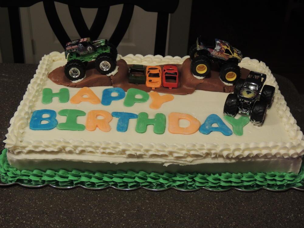 Monster Trucks Sheet Cake Kids With Food Allergies