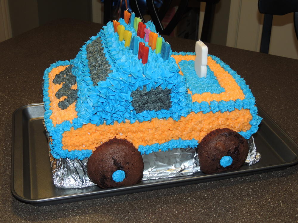 Monster Truck cake Kids With Food Allergies