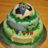 Son's 3rd Birthday cake a Sounders Soccer Fan