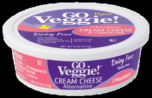 GO Veggie Dairy-Free Vegan Cream Cheese - Strawberry