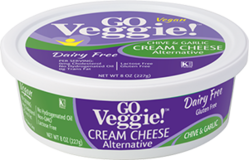 GO Veggie Dairy-Free Vegan Cream Cheese - Chive & Garlic