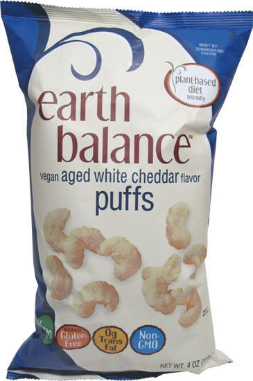 New Dairy-Free White Cheddar Puffs and Popcorn from Earth Balance