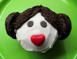 Princess Leia cupcake (egg, milk, peanut & tree nut free)