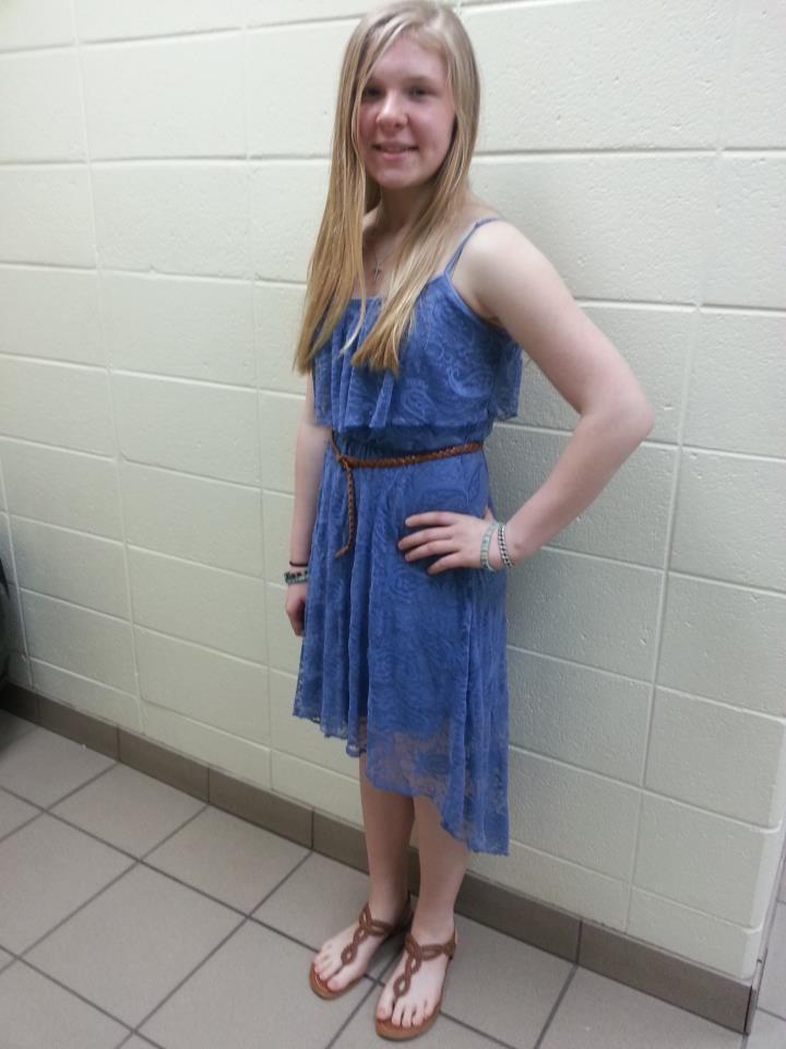Zarah after 8th grade award ceremony
