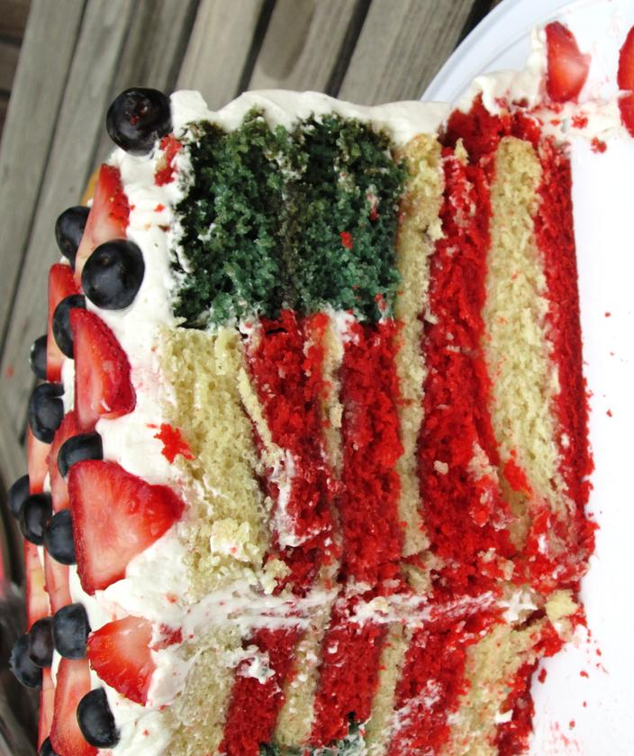 """Flag"" Cake - Dairy & Egg-Free"